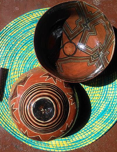 mocawa, piezas artesanales para beber guayusa